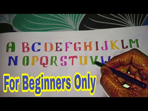 How to outline the alphabets for Coloring | For beginners| For project file | Part 1|