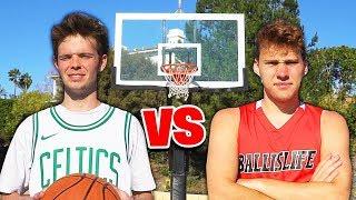 CRAZY 1V1 BASKETBALL VS JESSER!