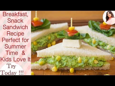 Spinach Corn & Paneer Cheese Sandwiches, Creamy spinach corn toast sandwich, Spinach Corn Recipe