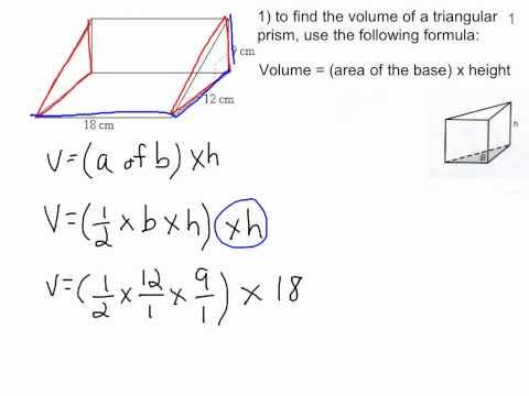 Volume of a triangular prism