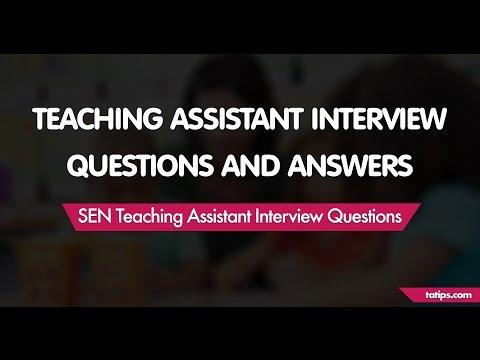 SEN Teaching Assistant Interview Questions
