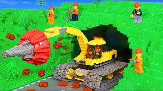 LEGO Pelleteuse, tracteur, tractopelle jouets pour enfants -Toys film for kids