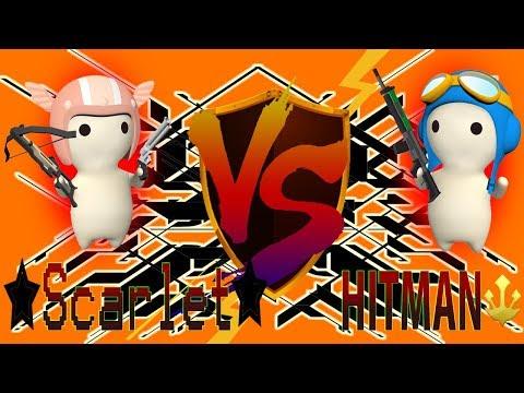 HITMAN VS ✩Scarlet✩ - Escort Map [MilkChoco Clan Battle]