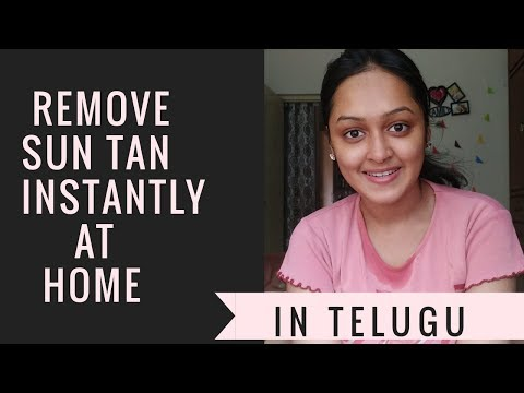 Remove Sun Tan Instantly At Home In Telugu