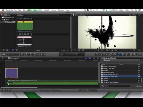 How to make a YoutTube Intro on MAC OSX