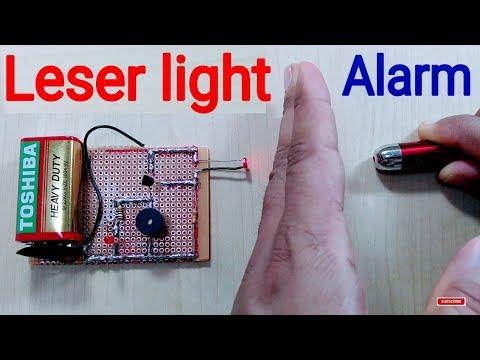 How to make a Laser Light Security Alarm - DIY