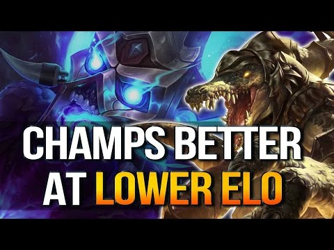7 CHAMPS BETTER AT CARRYING LOWER ELO (League of Legends)