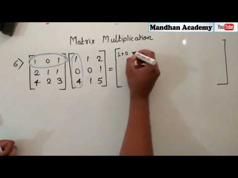 Quick Matrix Multiplication ALL Types Class 12 : CBSE