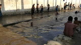 Children swimming in Kunar Provence Asadabad, Afghanistan 2017 summer