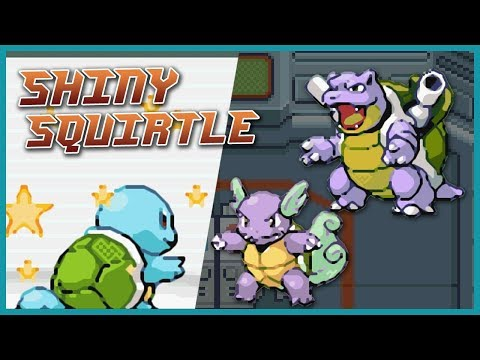 Live Shiny Squirtle, Wartortle & Blastoise Pokémon Fire Red / Leaf Green [300 SR]
