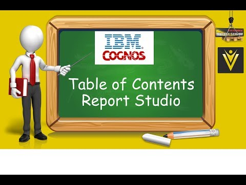 How to add Table of Contents in IBM Cognos Report Studio