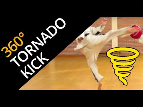 Tornado Kick  / Hurricane Kick / 360 Kick [now 5th Dan]