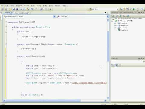 [C#] WebRequest and WebResponse - POST method