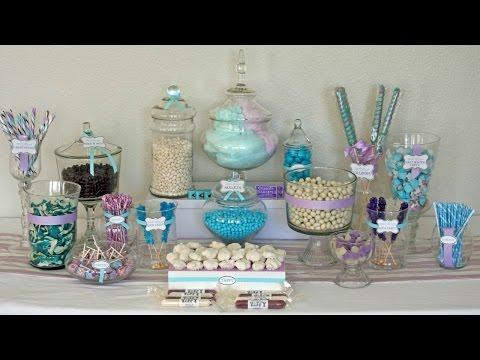 DIY Candy Buffet Decorating Ideas for Wedding