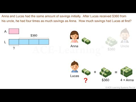 Singapore Primary Math Word Problems Video - Whole Number - 1