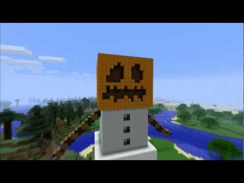 Minecraft Creations: Snow Golem Statue