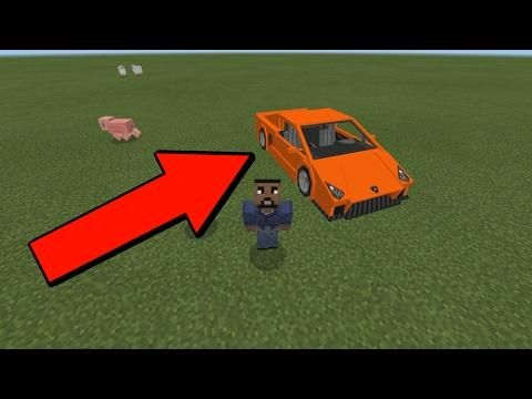 How to Drive a Lamborghini in Minecraft Pocket Edition (Minecraft Addon)