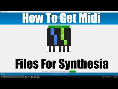 How To Get Midi Files For Synthesia