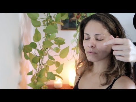 RELAXING ASMR candlelight massage and energy clearing
