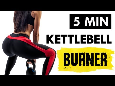 5 Minute Kettlebell Workout For Weight Loss (Metabolism Booster)