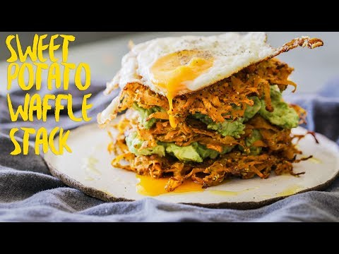 How To Make HEALTHY Sweet Potato Waffles Recipe