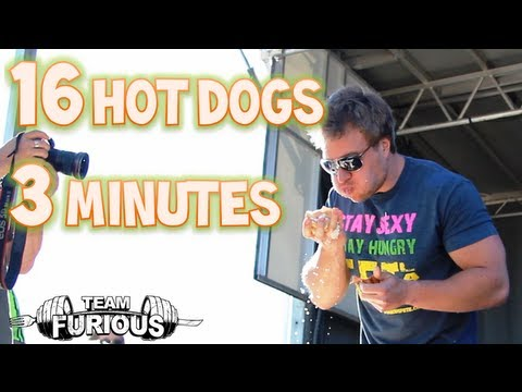 Eating 16 Hot Dogs in 3 Minutes at The Half Moon Drive In | Furious Pete