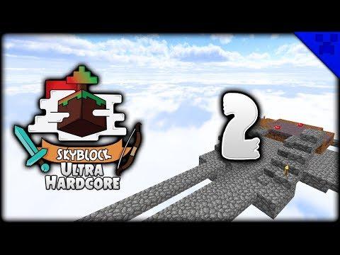 Minecraft | MUSHROOM ISLAND & NETHER PORTAL! | Minecraft SkyBlock Survival Ultra-Hardcore [#2]