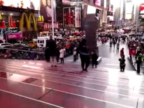 Crazy people in time square NYC