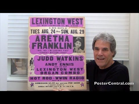 Aretha Franklin 1965 Jumbo Globe Window Card – Still the Early Days