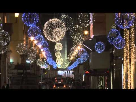 New Year and Christmas preparations in Rome