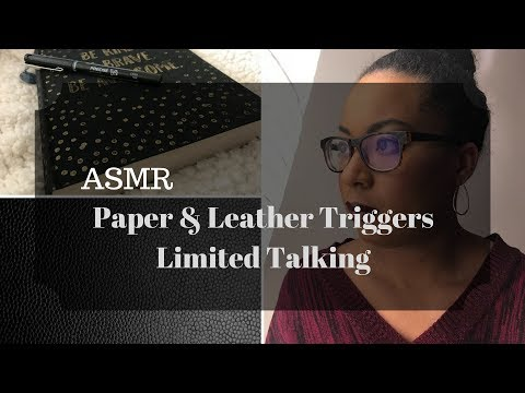 ASMR - Paper & Leather Triggers - Limited Talking