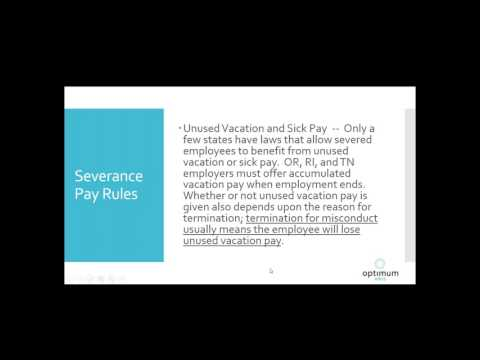 Termination and Severance Pay