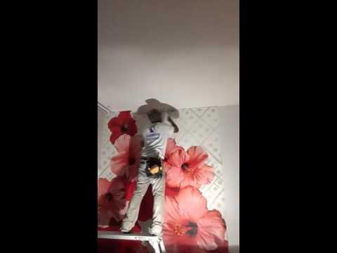 Hanging hardboard wall