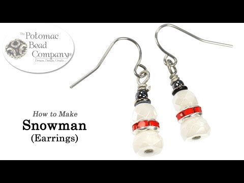 How to Make Snowman Earrings