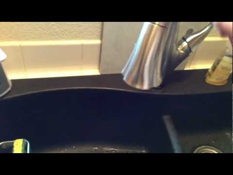 Swanstone sink and Delta Addison touch2O installed.