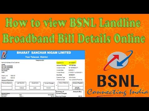 How to view BSNL Landline Broadband Bill Details Online