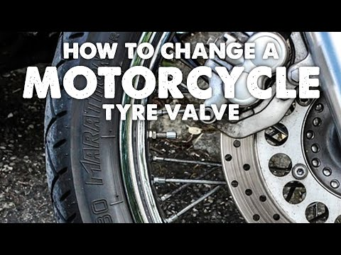 How to Change a Motorcycle Tyre Valve