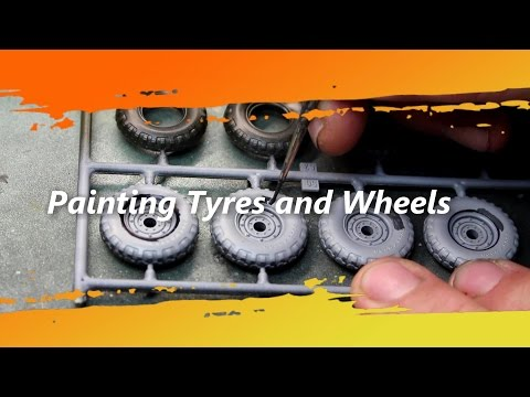 Scale Model Painting Tyres and wheels