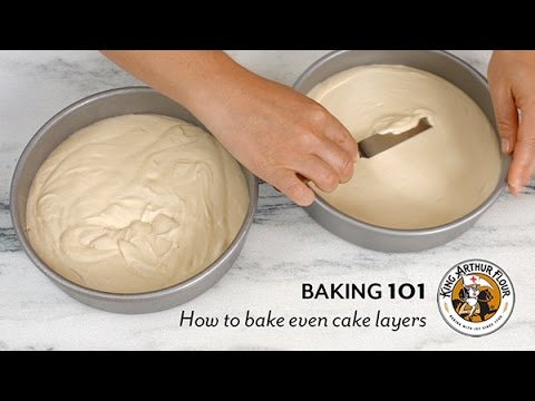 How to bake even cake layers