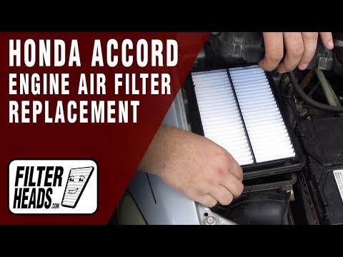 How to Replace Engine Air Filter 2002 Honda Accord L4 2.3L