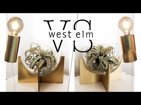 WE TRIED DIY-ING EXPENSIVE WEST ELM DECOR
