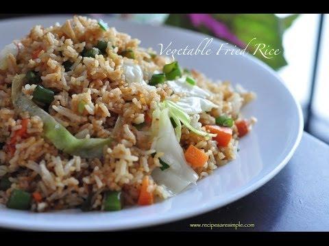 Vegetable Fried Rice - NO EGG    RecipesAreSimple