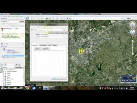 Creating a Google Earth Placemark