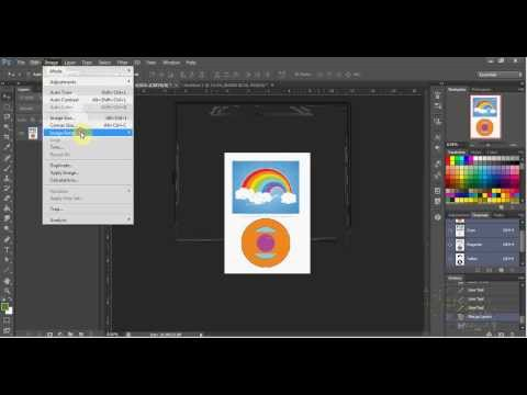 Adobe Photoshop - Change Image Size, Canvas Size and Rotate Canvas.