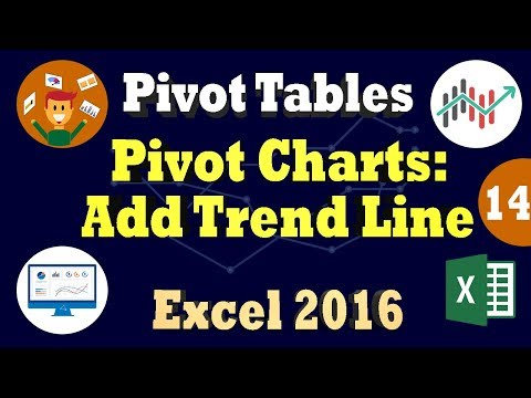 Filtering - Add Trend Line & Changing Layout - Excel 2016 Pivot Chart Tutorial - - Part 2