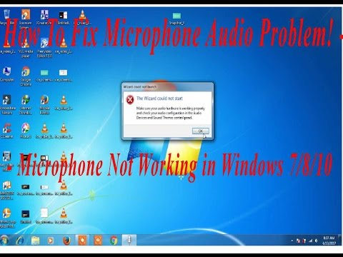 How To Fix Microphone Audio Problem! - Microphone Not Working in Windows 7/8/10