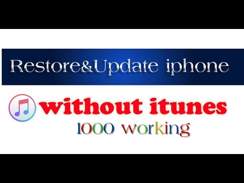 Restore and Update Iphone without itunes