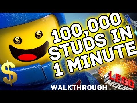 Lego Movie Studs Exploit - 100,000 in 1 Minute w/ 2x Multiplier Red Brick | Money Cheats Tips Tricks