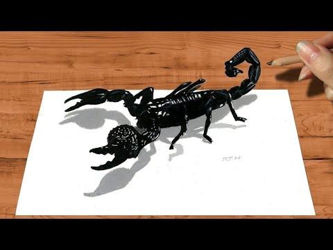 3D Pencil Drawing: Emperor Scorpion How to Draw Animals - Speed Draw | Jasmina Susak