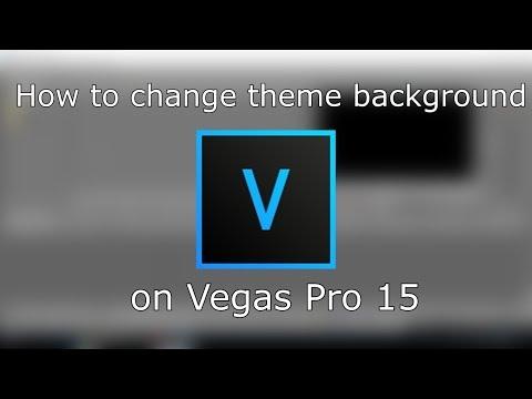 How to change theme background - Vegas Pro 15